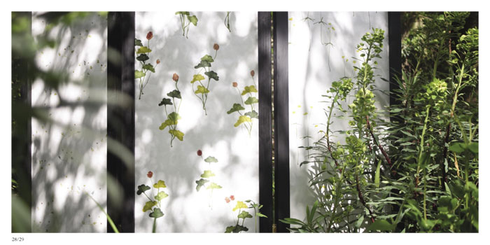 *Rice paper screen, Private garden, Norwich, May 2006
